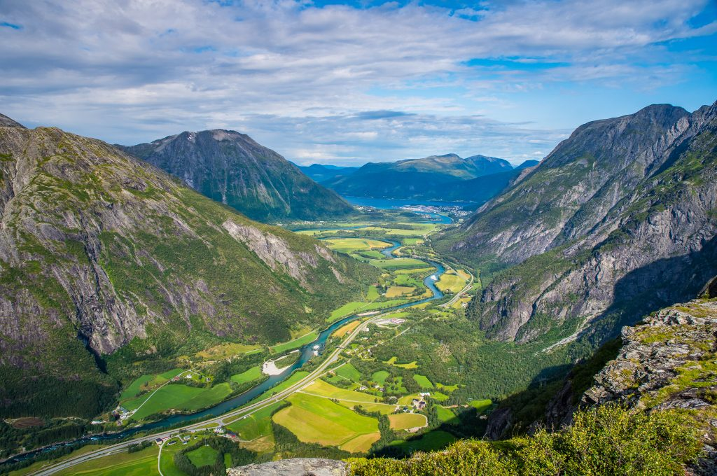 Views from Litlefjellet in Romsdalen, Norway